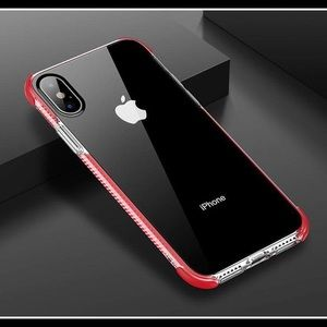 Accessories - Red clear iphone Xr Case